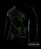 Cool Luminous Genji T-shirt Long Sleeve Black 4XL Tee