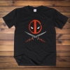 Deadpool Head and weapon Tee Shirt Unisex