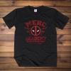 Deadpool Merc Academy Tee Shirt Black Cotton T