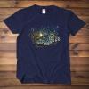 Groot under the night sky t-shirt Van Gogh Oil Painting Style Tee Shirt