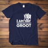 Guardians Of The Galaxy Groot T-shirt Red Wine Tee Shirt