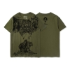 World of Warcraft Orc Durotan T-shirt Blizzard WOW Army Green Tee