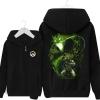 Overwatch Genji Sweatshirt Black Zipper Hoodie For Men