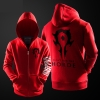 Quality Blizzard WOW Horde Logo Sweatshirt World of Warcraft Zipper Hoodie