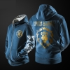 World of Warcraft Alliance Hoodie Blizzard WOW ZIpper Sweatshirt