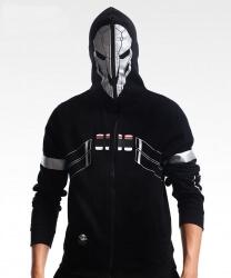 Quality Overwatdh Reaper Cospaly Hoodie Full Zipper Sweatshirt For Men Boy