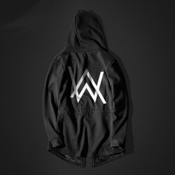 Cool Alan Walker Faded Cosplay Hoodie Long Black Men Sweatshirt