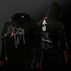Cool Japanese Ninja Hanzo Hoodie Black Kung Fu Pull Finger Sweatshirt
