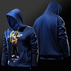Dragon Ball Vegeta Hoodie Blue DBZ Sweatshirt for Boy