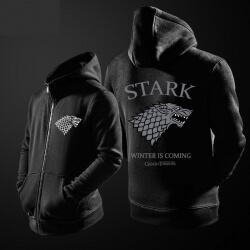 Game Of Thrones House Stark Wolf Hoodie grey direwolf Zipper Sweater