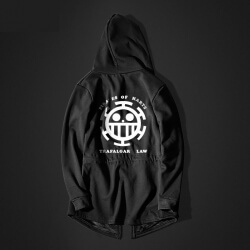 One Piece Trafalgar Law Long hoodie Black Men Hooded Sweatshirt