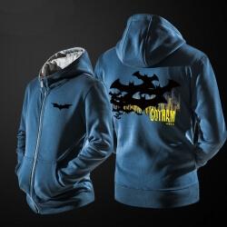 Cool Batman Sweatshirt Men Blue Zipper Hoodies