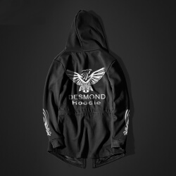 Assassin'S Creed Desmond Cosplay Hoodie Black long Hooded Sweatshirt for men
