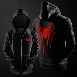 Cool Spiderman Zip Up Hoodie Marvel Superhero Sweater For Men