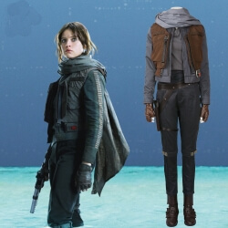 Star War Rogue One Jyn Erso Cosplay Custome