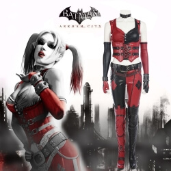 Batman Arkham Knight Costume Harley Quinn Halloween Cosplay Costume