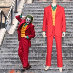 Batman Joker cosplay Costumes Red Man Coat