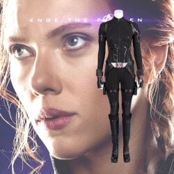 Avengers End Game Black Widow Cosplay Costume Natasha Romanoff Jumpsuit