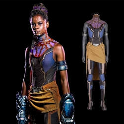 Avengers Infinity War Black Panther Jumpsuits Shuri Cosplay Costume