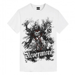 DOTA 2 Ink Shadow Fiend Tees Girls White Tee
