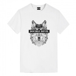 Geometric Wolf Design Tee Shirt