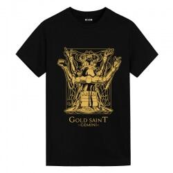 Saint Seiya Gemini black Tshirts Vintage Anime T Shirts