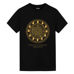 Brozing Fire clock Tee Saint Seiya Anime Graphic T Shirts