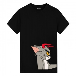 Tom and Jerry Devil Tom Tees Vintage Anime Shirts