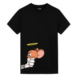 Tom and Jerry Angel Jerry Shirts Anime Girl T Shirt