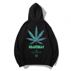 Quality Leaf Sweatshirt Coat
