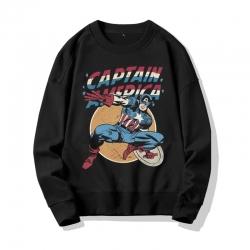 <p>Captain America Hoodie The Avengers Black Hooded Coat</p>