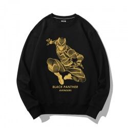 Bronzing Design Jacket Black Panther Hoodies