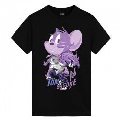 Tom and Jerry Sasuke Uchiha Tom Tees Anime T Shirt Design
