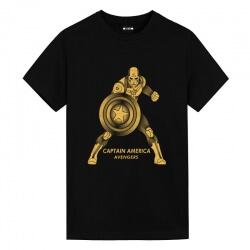 Bronzing Tee Captain America Vintage Marvel Shirts