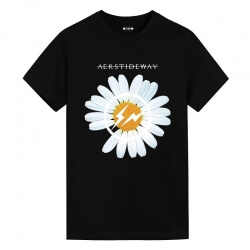 Quality Daisy Black Tee