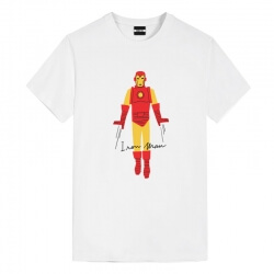 Tee Shirt Iron Man White Marvel T Shirt