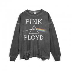 <p>Rock N Roll Pink Floyd Tees Ripped Long Sleeve T-Shirt</p>