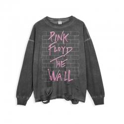 <p>Ripped Long Sleeve Tshirt Rock Pink Floyd T-shirt</p>