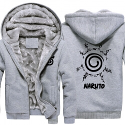 Winter Warm Hoodies Naruto Uzumaki Logo Coats