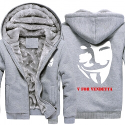 V for Vendetta Hoodie V Monster Mask Winter Coats