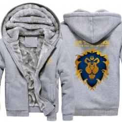 World of Warcraft Lion Logo Winter Hoodie WOW Winter Coats