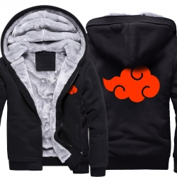 Naruto Akatsuki Logo Winter Coats Thick Hoodies For Winter