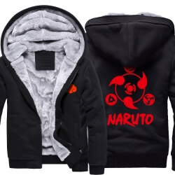 Naruto Sharingan Logo Warm Hoodies For Winter Mens