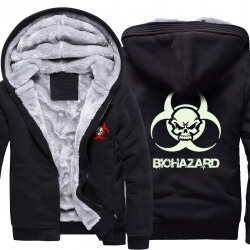 Resident Evil Skull Logo Warm Hoodies For Winter