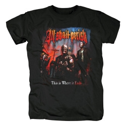 All Shall Perish This Is Where It Ends T-Shirt Metal Graphic Tees