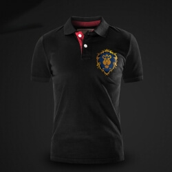 Alliance Lion logo Polo shirt world of warcraft Game Polo T-shirt for men