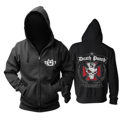 Awesome Five Finger Death Punch Hooded Sweatshirts California Rock Band Hoodie