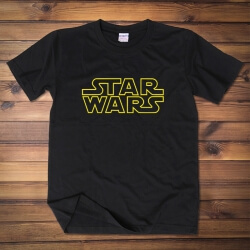 Awesome Star Wars Logo Tshirt Unisex Navy Blue Tee