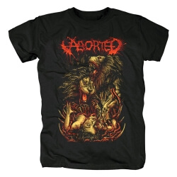 Belgium Metal Graphic Tees Aborted Band T-Shirt