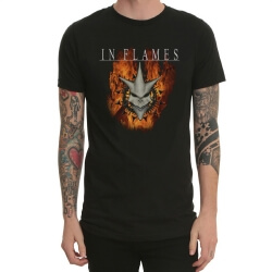Black In Flames Heavy Metal Rock Tshirt